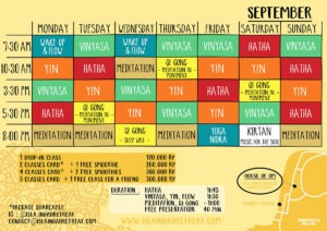 September schedule house of om