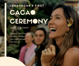 Nusa Lembongan's first cacao ceremony