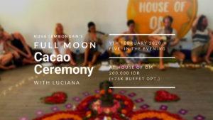 Cacao Ceremony Header February
