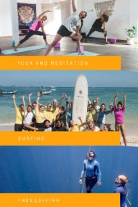 Yoga Meditation Surfing Freediving Packages